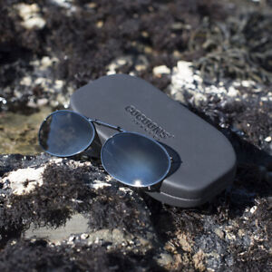 Cocoons Clip-Ons OVL2-46 Gunmetal / Gray Polarized UV400 Sunglasses (Oval Shape)