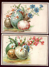 2 JERSEY COFFEE, DAYTON SPICE MILLS, EMBOSSED TRADE CARDS, LG EASTER EGGS TC3176