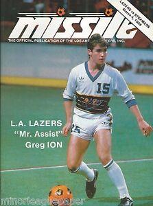 1986 Los Angeles Lazers vs. St. Louis Steamers MISL Soccer Program #FWIL