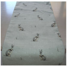"Coffee Table Runner 48"" Hartley Hare Natural Beige Brown Rabbits 120cm NEW 4ft"