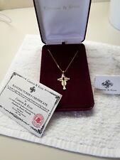 Jacqueline Kennedy JBK Simulated Ruby Celtic Cross Necklace