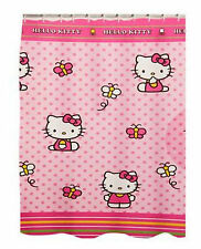 Hello Kitty & Me Butterflies And Bows Whimsical Fabric Shower Curtain, Polyester