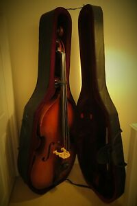 3/4 Double Bass - Hard Case - Shadow pickup - Bow - D'Addario strings