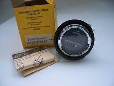 VDO Betriebsstundenzähler von 1976 24 Volt 60 mm vintage Engine hour meter NOS