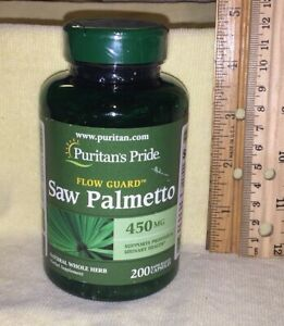 LARGE Saw Palmetto, from Puritan's Pride.  200 capsules, 450 mg each