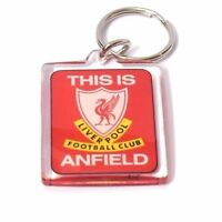 Liverpool FC Football Club Square Plastic Red Anfeild Key Ring Keyring Fan Gift