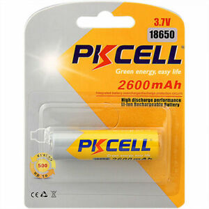 Lithium Rechargeable Battery 18650 2600mAh FLAT TOP NO PCM