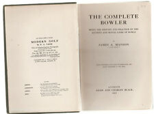 THE COMPLETE BOWLER - JAMES MANSON  FIRST EDITION  1912   vintage edition   cv