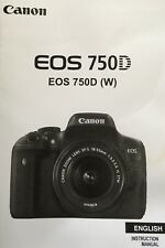 Canon EOS 750D Manual - Printed & Professionally Bound Size A5 - NEW 416 Pages