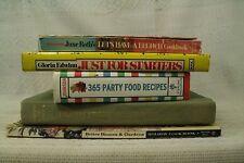 big lot old cookbooks cook books Party food recipes. fresh fruit desserts Brunch