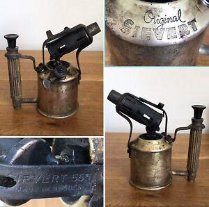Antique or Vintage ORIGINAL SIEVERT 555 Paraffin Petrol Blow Torch Flame Lamp