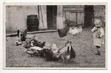 AGRICULTURE CAMPAGNE scene de nos campagnes la basse cour petit jean et poules