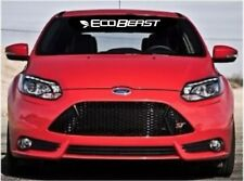 "FORD ECOBEAST 24"" Windshield Banner Vinyl Decal ECOBOOST Focus Mustang F150"