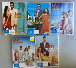 BURN NOTICE : SEASONS 1 2 3 4 5 : NEW DVDs Sealed. R4