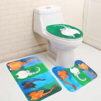 Badgarnitur 3tlg.Set Badematte Badteppich Badvorleger WC Toilette Deckel