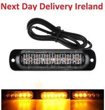 6 LED Car Emergency Strobe Light Bar Warning Flash Visor Dash Lighting Lamp 18W