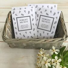 10 Filled Forget Me Not Seed Packet Funeral Favours - Remembrance, Condolence