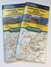 Colorado 14ers Topographic Trail Map Guide Set National Geographic Waterproof