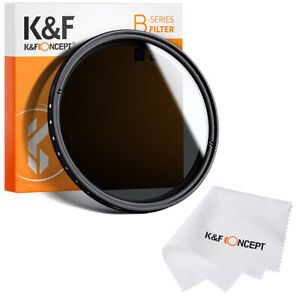 K&F Concept Neutraldichtefilter ND Filter Einstellbar von ND2 bis ND400 37-82mm