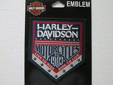 **Genuine** Harley-Davidson H-D Republic 1903 Woven Label with Stars. RETIRED!!