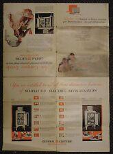 1930 General Electric Refrigerators advertising brochure