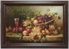 Large framed fine quality canvas art - oil painting of fruits still-life 42x32