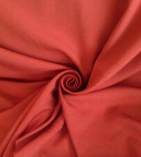 "10 Metres Terracotta Plain Cotton Canvas Weave Curtain Material Fabric 54"" Wide"