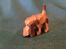 Vintage Carved Wood Brown Basset Hound Figurine - Very Nice!