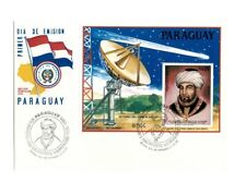 PARAGUAY 1985 Maimonides - Halley's Comet Souvenir Sheet - First Day Cover
