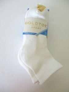 GoldToe Womens 6 pair cushion quarter sport socks shoe size 6-9