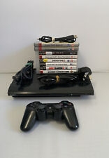 PlayStation 3 PS3 Super Slim Console 40GB Bundle - 8 Games - All Cables - V4