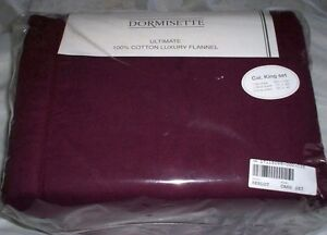 ✳️ Red Merlot KING or CAL KG Flannel Sheet Set THE BEST Dormisette German Cotton