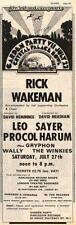 Rick Wakeman Procol Harum Winkies UK show advert '74 #2 EFGH