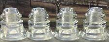 4 Antique Hemingray 45 DIY Clear Glass Insulators Predrilled Pendant Light Xx