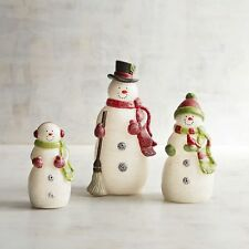 Pier 1 Snow Family LED Flameless Candles Set of 3