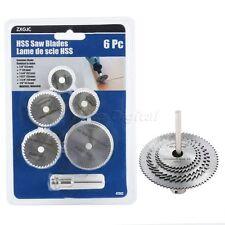 6pcs HSS Rotary Circular Saw Blades Wheel Cutting Off Discs W Mandrel for Power