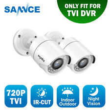 SANNCE 2x HD 720P TVI 1500TVL CCTV Home Security Camera Outdoor IR Night Vision