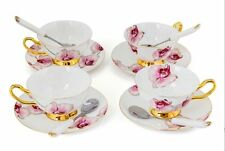 Porcelain Tea Cup and Saucer Coffee Cup Set White color with Saucer and Spoon s2