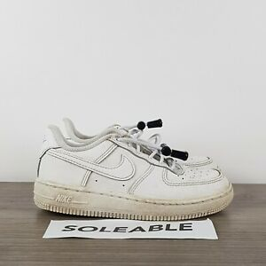 Nike Air Force 1 Low GS Kids White Leather Shoes 314193-117 Toddler Size 11C