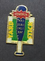 Vtg Homerun Yard Stick Triple Double Single Bunt Epoxy Baseball Lapel Tack Pin