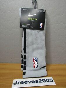 NWT Nike NBA Elite Crew Basketball Socks Sz 8-12 / L - Men - SX7587 007