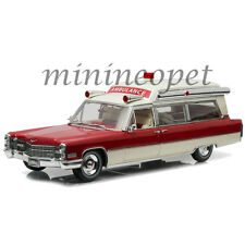 GREENLIGHT 18003 PRECISION COLLECTION 1966 CADILLAC AMBULANCE 1/18 RED / WHITE