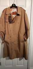 Gucci Trench Coat/ Washed Gabardine with leather buckles/ Size 54 Dark Brown