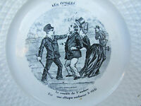 Vintage French Assiettes Parlantes Black and White Small Plate - Les Combles