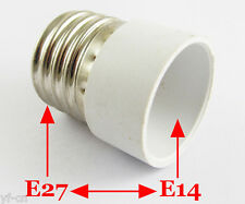10pcs E27 Male to E14 Female Socket Base LED Halogen CFL Light Bulb Lamp Adapter