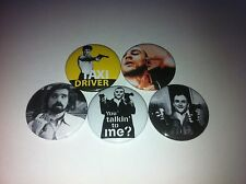 5 Taxi Driver pin button badges 25mm You talking to me Martin Scorese