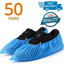 Large Shoe Covers For Rain Waterproof Snow Dirt Non Slip Workers Boots 100 Pack