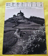 1959 image poster en Lorraine, vers la Chapelle SAINT-LÉON.régionalisme