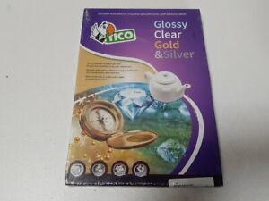 Tico PG4-210297 Etiketten glänzend rechteckig 100 Stück 210 x 297 Weiß -