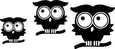 Cute Owl Bird Set Car,Van Camper Bonnet Bumper Window Wall Sticker LSB04